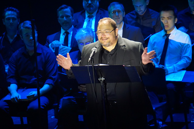 "Singing ""The Arbiter's Song"" in ""Chess"" (in concert) at South Bay Musical Theatre, June 2017."