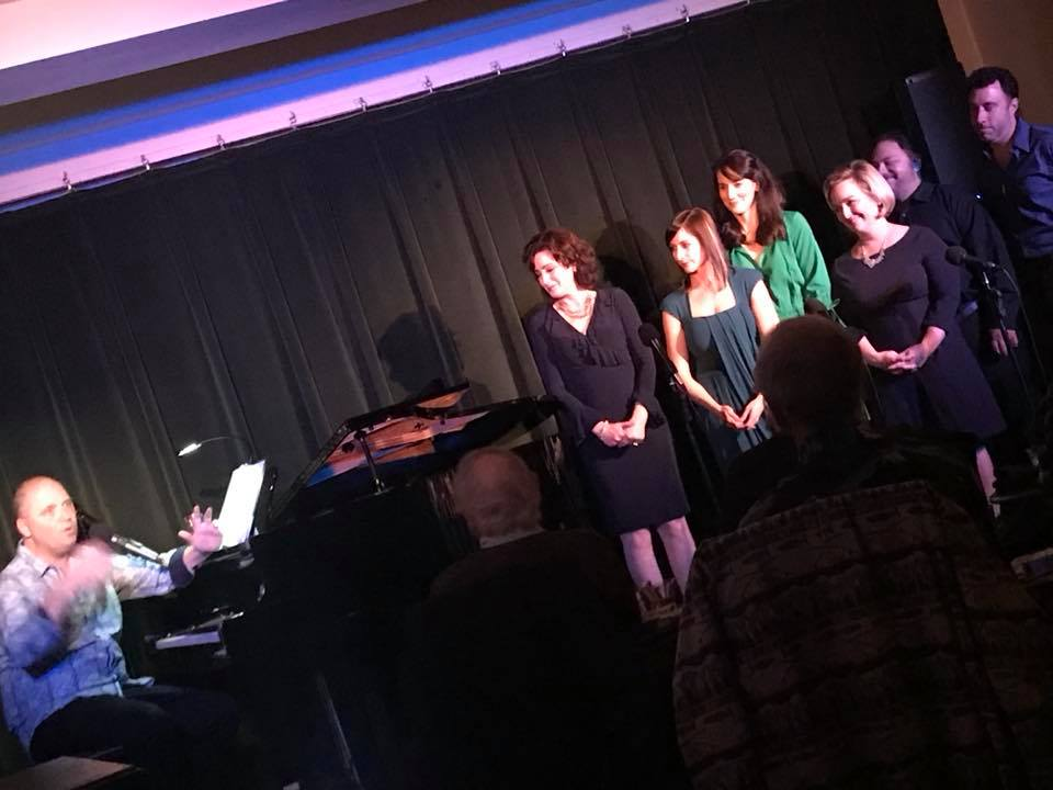 "With the cast of ""Duets"" at Society Cabaret, San Francisco"