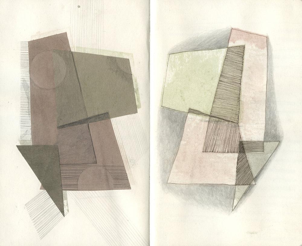 Paper, watercolor, micron, graphite.
