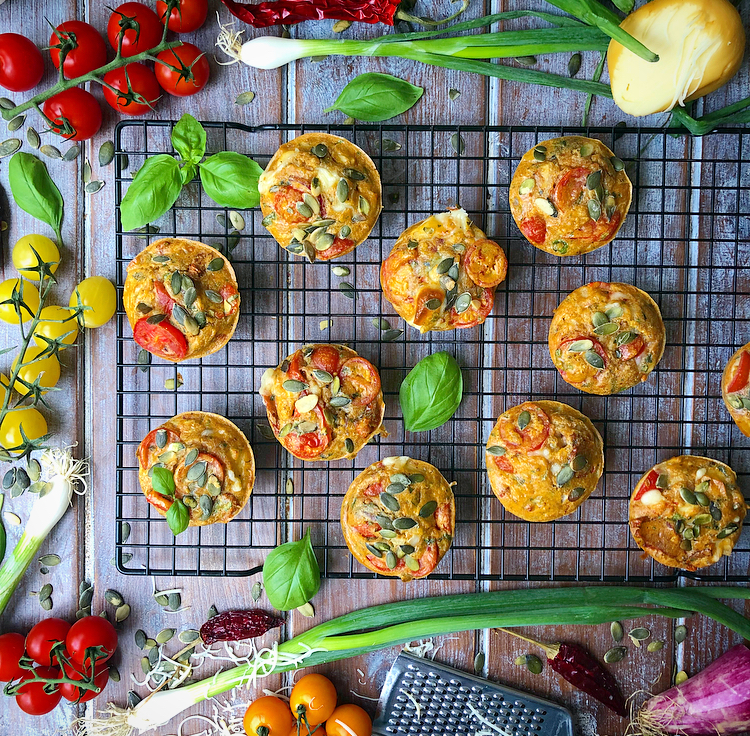 Tomato Breakfast Muffins