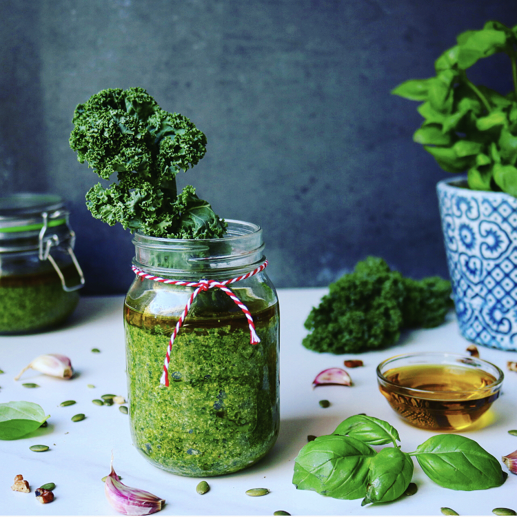Kale, Walnut & Pumpkin Seed Pesto