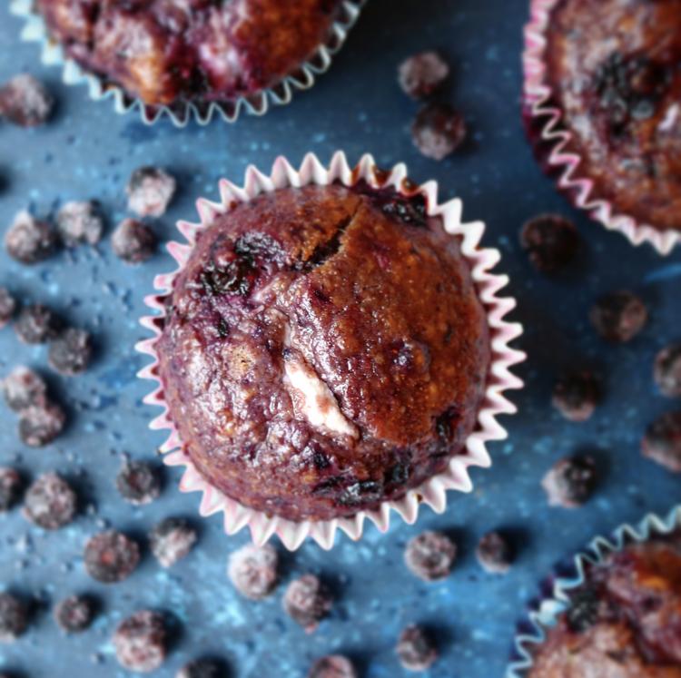 Healthy Blueberry Spelt Muffin
