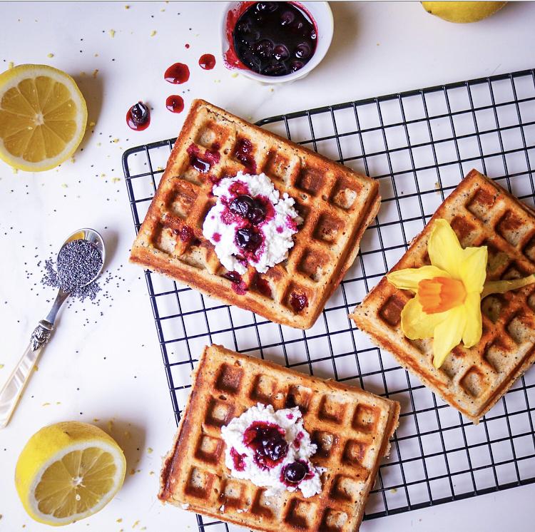 Lemon, Ricotta & Poppyseed Waffles