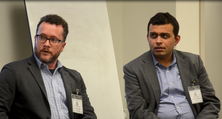 - Panel with V.Mahidhar, VP of Artificial Intelligence Solutions for GenPac, and myself.