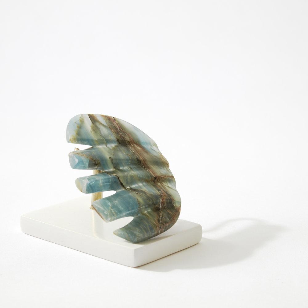 Comb #12, blue onyx, 2017