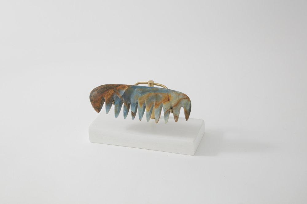 Comb #1, blue onyx, 2017