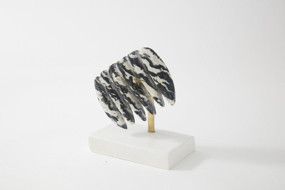 Comb #3, zebra marble, 2017