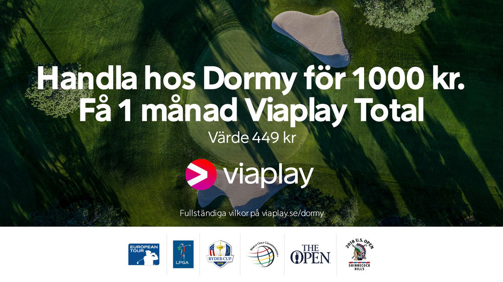 Se Henrik Stenson och de andra världsstjärnorna live framför TVn i sommar - på Viaplay.
