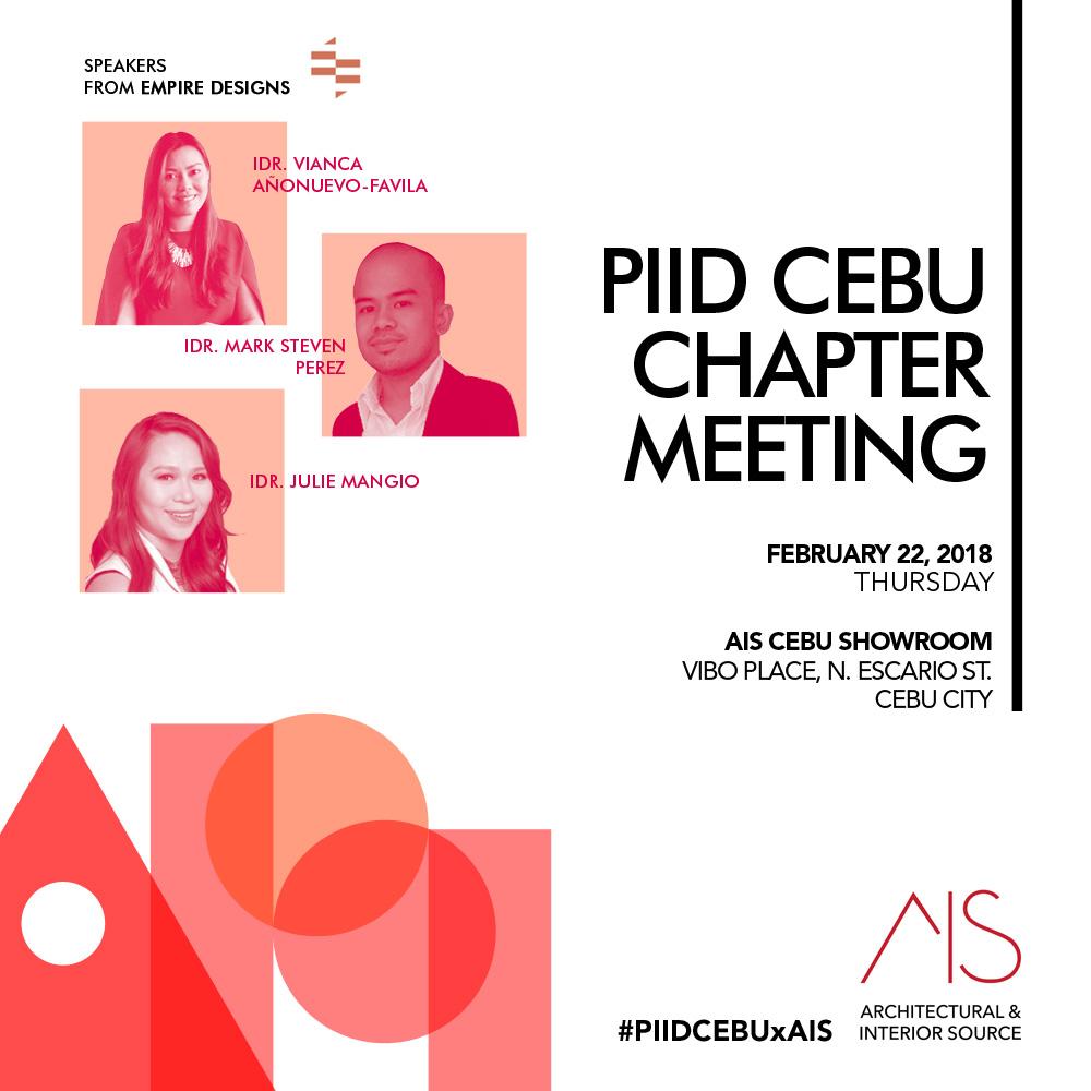 Philippine Institute Of Interior Designers  Cebu Chapter General Membership  Meeting U2014 Architectural U0026 Interior Source