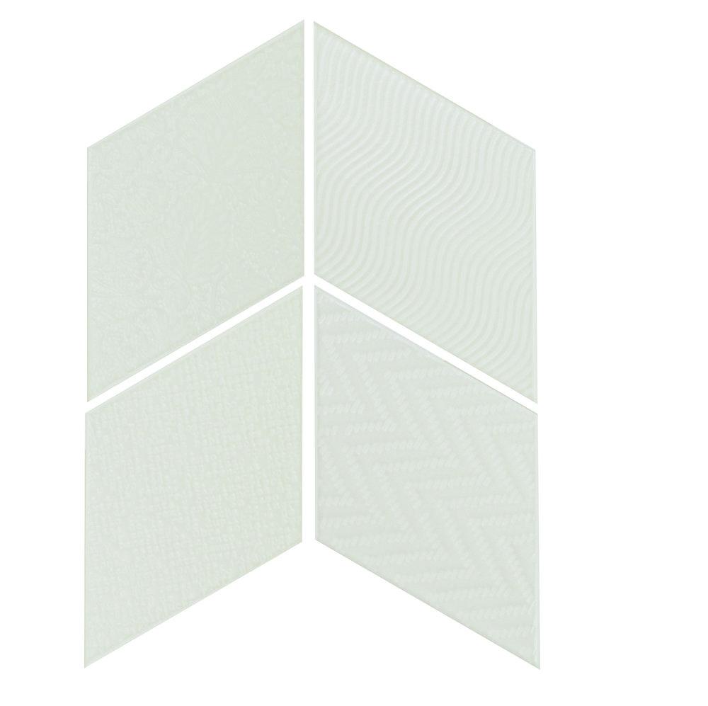 Rhombus White 14x24 cm  Floor & Wall Tile / Porcelain / R9