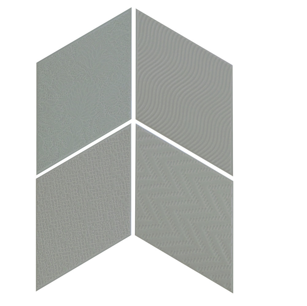 Rhombus Dark Grey 14x24 cm  Floor & Wall Tile / Porcelain / R9
