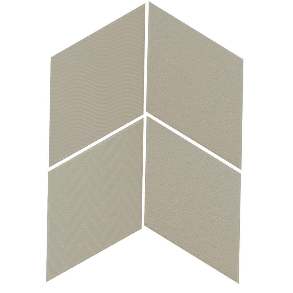 Rhombus Green 14x24 cm  Floor & Wall Tile / Porcelain / R9