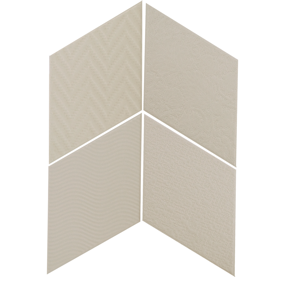 Rhombus Light Grey 14x24 cm  Floor & Wall Tile / Porcelain / R9