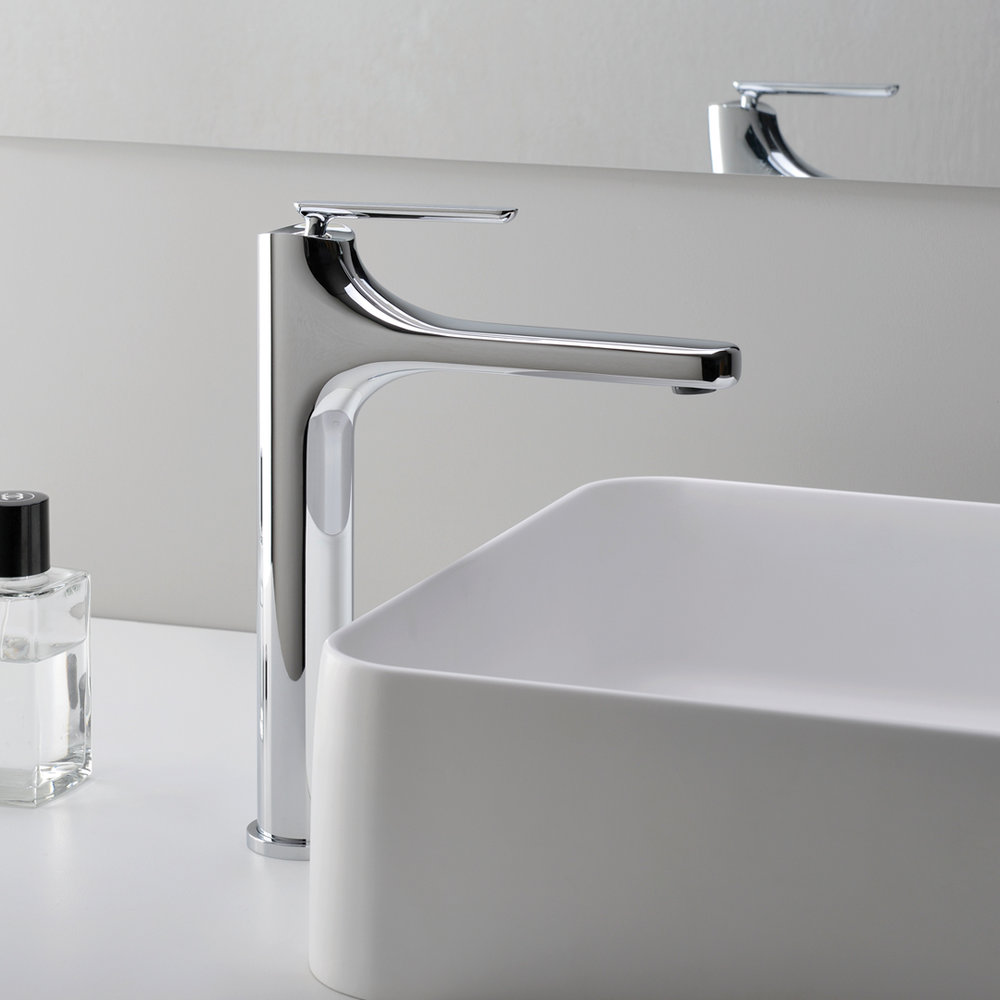 """BE 22251  Available in Chrome color. Accepts indent orders for other colors.  Basin mixer with 1""""1/4 Up&Down waste"""