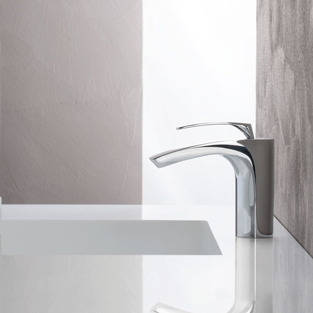 "BO 22051  Available in Chrome color. Accepts indent orders for other colors.  Basin mixer with 1""1/4 Up&Down waste"
