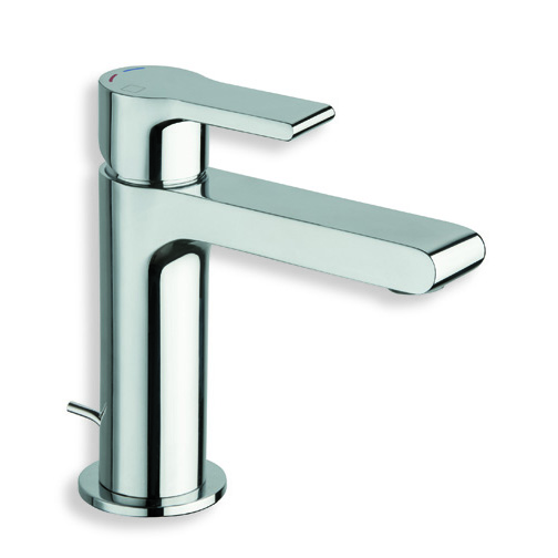 """DE 22151  Available in Chrome color. Accepts indent orders for other colors.  Basin mixer with 1""""1/4 pop up waste"""