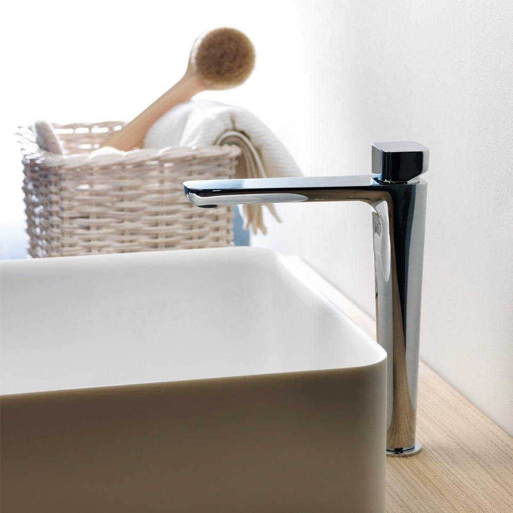 """KG 22251  Available in Chrome Color. Accepts indent orders for other colors.  Basin mixer with 1""""1/4 Up&Down waste"""