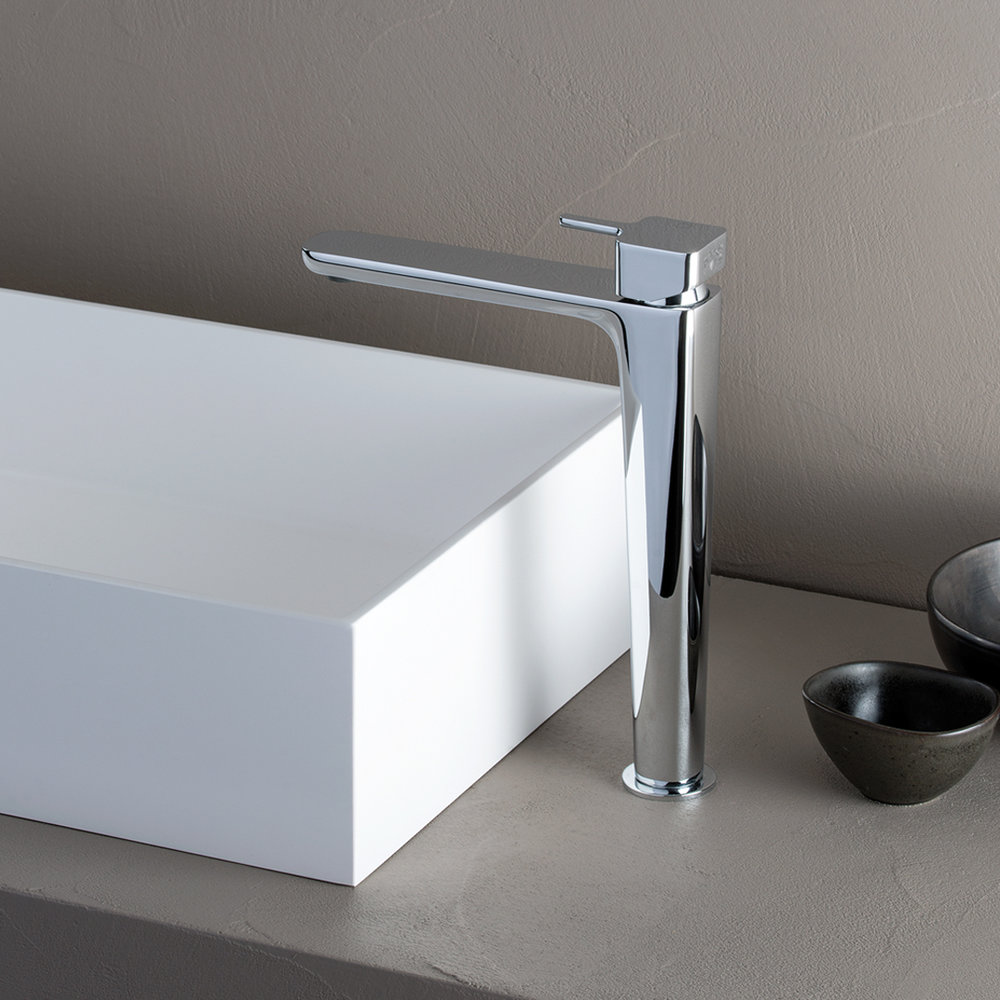 """KG 21251  Available in Chrome. Accepts indent orders for other colors.  Basin mixer with 1""""1/4 Up&Down waste"""