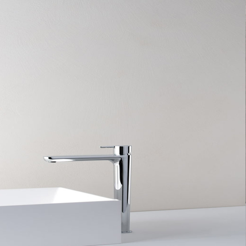 """QE 21251  Available in Chrome color. Accepts indent orders for other colors.  Basin mixer with 1""""1/4 Up&Down waste"""