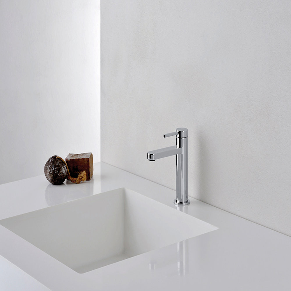 """UC 22051  Available in Chrome color. Accepts indent orders for other colors.  Basin mixer with 1""""1/4 Up&Down waste"""