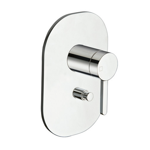 UC 63951  Available in Chrome color. Accepts indent orders for other colors.  Complete concealed bath/shower mixer with 2 outlet diverter and metal plate