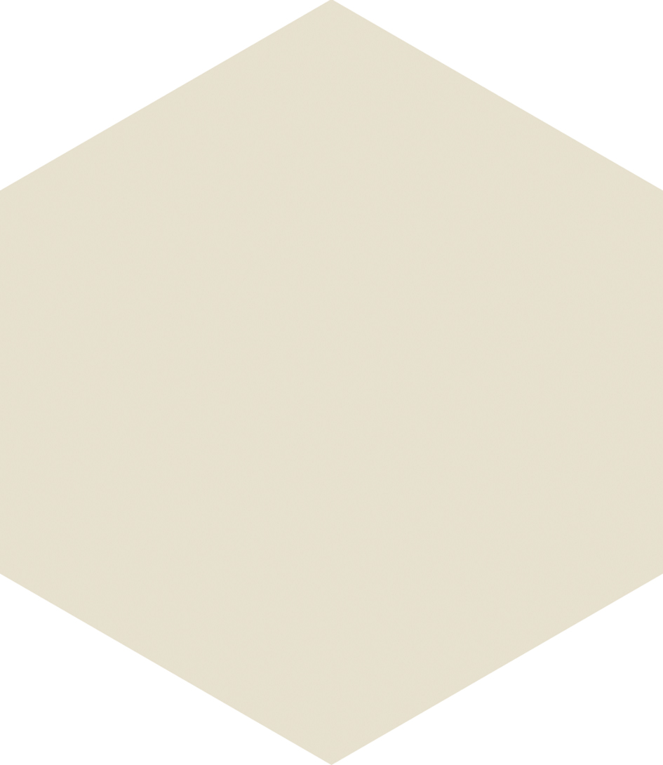 Hexagon White 17.5x20.2 cm