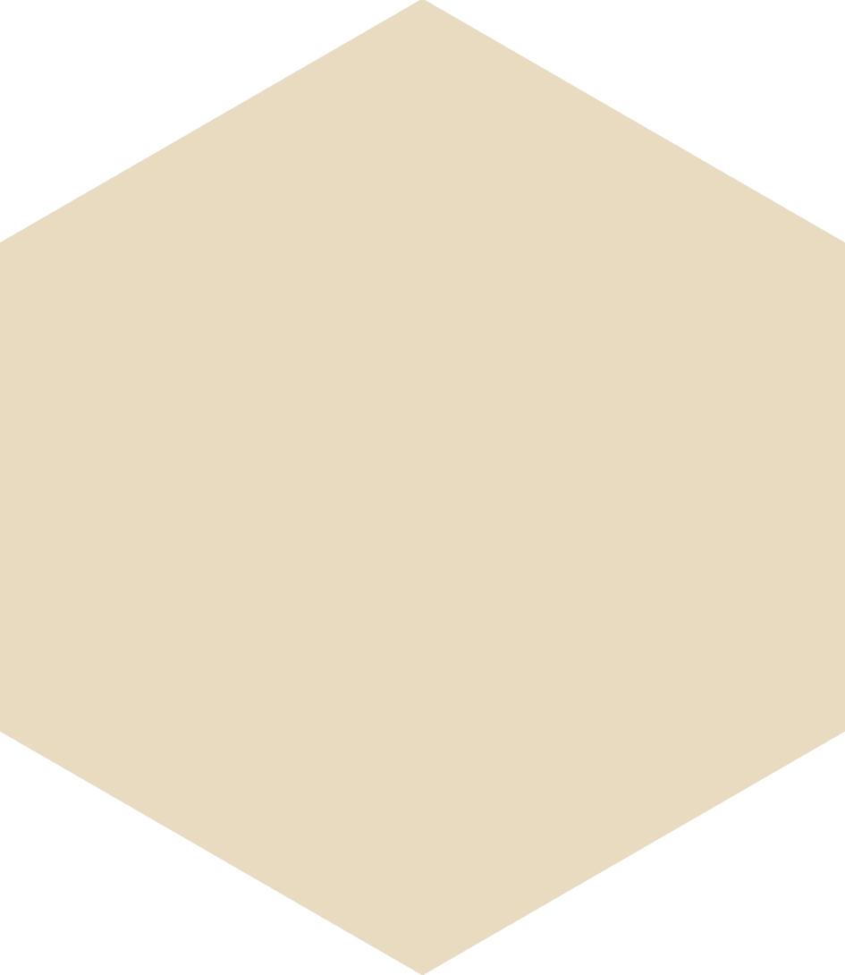 Hexagon Beige 17.5x20.2 cm