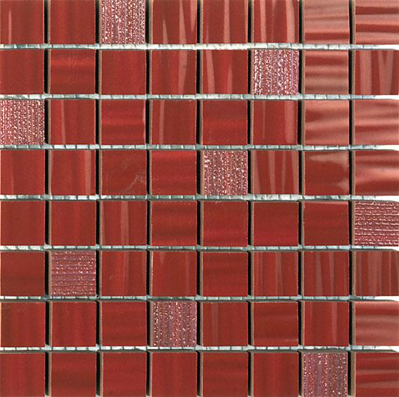 Funny Mosaic Burdeos 20x20 cm  Wall tile / Red Body / Brillo / V2