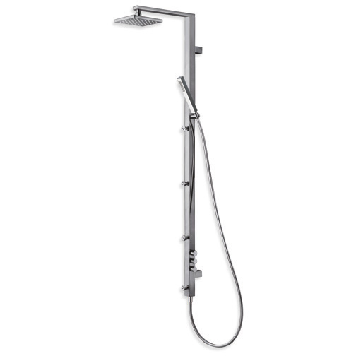 PD 511 3 outlet multifunction shower column for concealed thermostatic body, checkable anti-lime showerhead, LONG LIFE flexible hose, anti-lime hand shower and adjustable jets, combined outlets