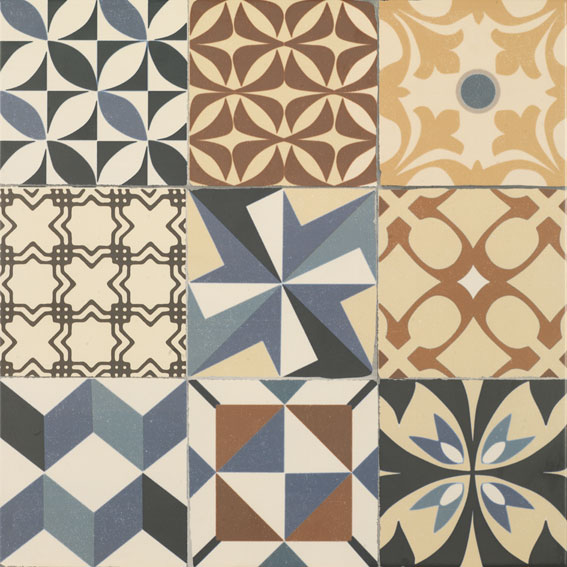 Gaudi Multi 45x45 cm  Floor tile/ Porcelain / Matt