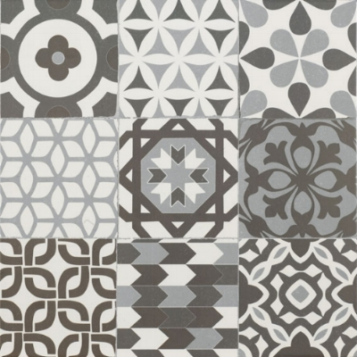 Gaudi Black 45x45 cm  Floor tile/ Porcelain / Matt