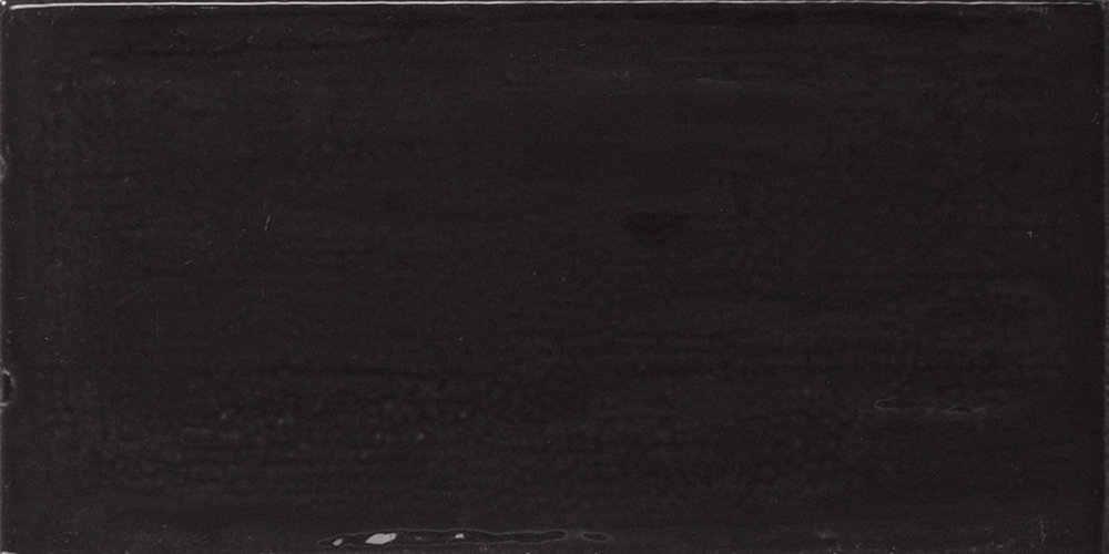 Piemonte Black 7.5x15 cm  Wall tile/ Red Body / Brillo