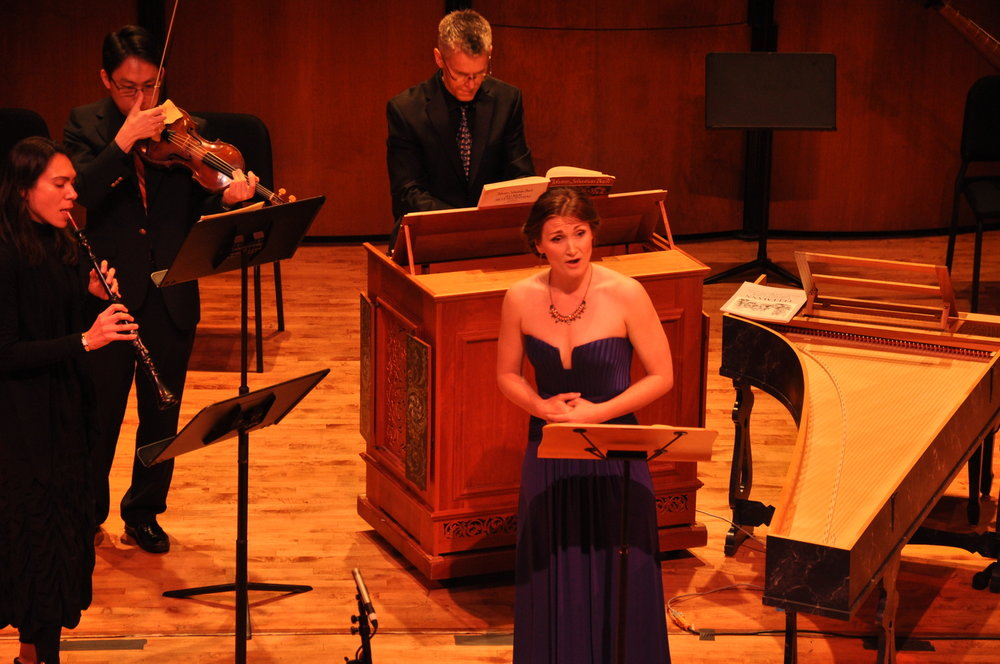 The Houston Critic on Ars Lyrica - Soprano Meghan is a survivor, and completed two entire Bach cantatas in one program, which included nine arias, nine recitatives and one gavotte. I got tired just counting! Amazing stamina while performing dramatically or with lilting tones.