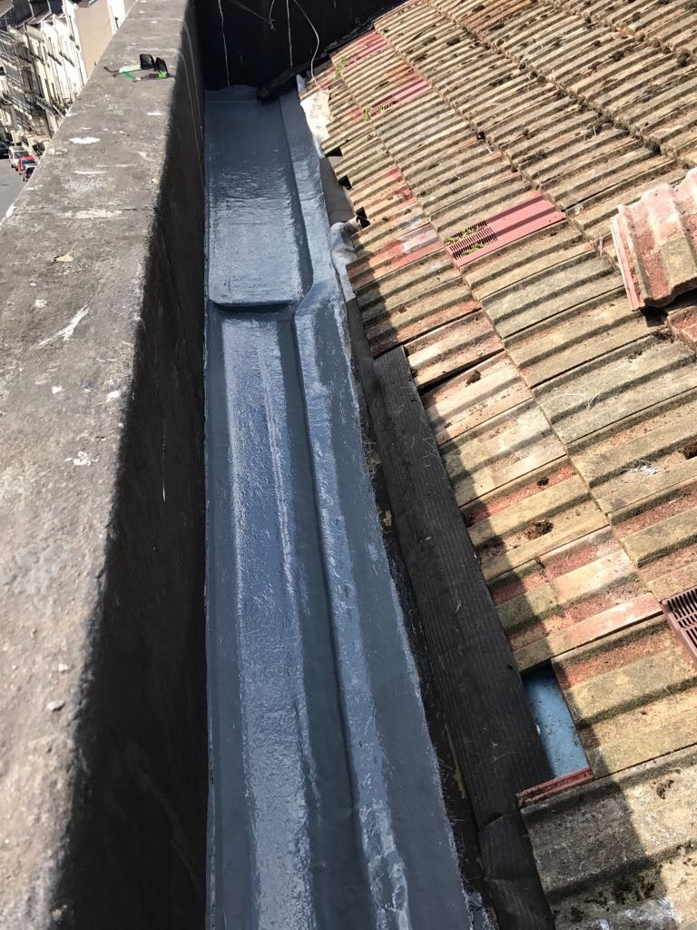 Domestic GRP gutter lining — Sussex Roofers LTD