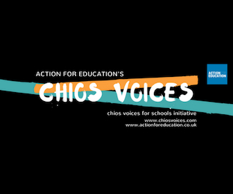 CV For Schools - Chios Voices for Schools is a set of lesson plans and resources for schools around the world to engage with, and respond to, the creative work of students. Through specially-designed lessons, teachers can introduce themes related to migration and asylum in positive and meaningful ways in their classroom.