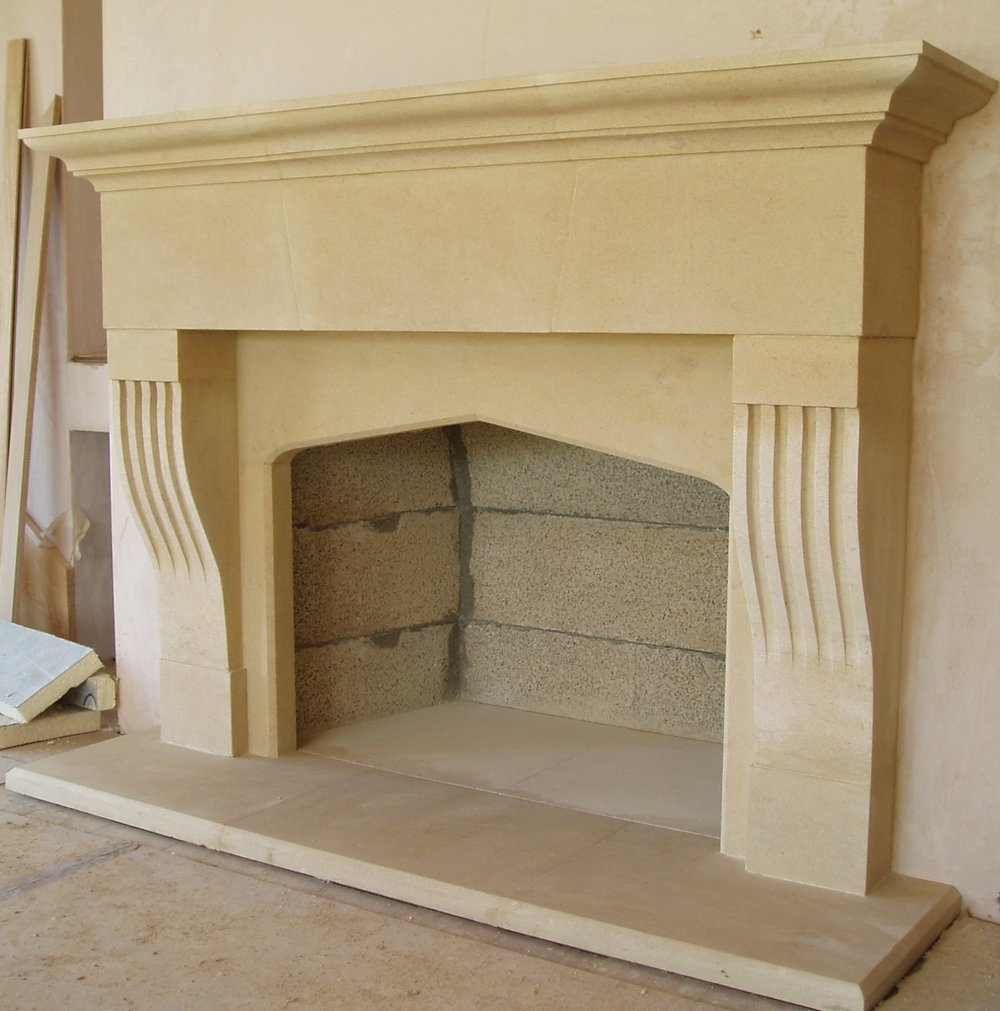 Stone Fireplace Devon