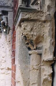 Stonework at Hendre Mansion before restoration...