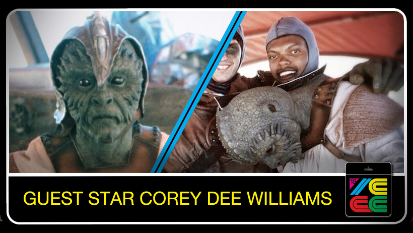 Corey Dee Williams - Corey Dee Williamsis the son of Billy Dee Williams a.k.a. Lando Calrissian. Corey was actually his Dad's stand-in on Return of the Jedi! It was during his time on set that he was offered the role of KLAATU! Spending a few weeks on set and having your Dad respected by the crew was a sure fire way for Corey to be asked to don the costume of this odd green creature. He left the set of RETURN OF THE JEDI with an amazing story to tell and also the awesome honor of becoming an action figure! Corey has worked on a few other films, but acting was not his passion. Corey is now a fitness and lifestyle coach who has trained celebrities such as Jane Fonda, Mykelti Williamson, Ice Cube