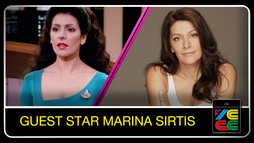 Marina Sirtis - Born in London to Greek parents, Marina began her passion for acting at the Royal Shakespeare Company affiliated Guild Hall of Music and Drama School. The Worthington Repertory Theater company's production of Hamlet was Marina's entree into the theater world. She went on to appear with a variety of European theater companies. Once Marina distinguished herself in theater, she began to expand her acting career into television. She appeared in several popular British television series such as Minder & Hazel and starred in the critically acclaimed made for British television film One Last Chance. Marina also appeared in feature films produced on both sides of the Atlantic including: The Wicked Lady with Faye Dunaway; Death Wish III opposite Charles Bronson; Blind Date with Bruce Willis and Richard Donner's The Thief of Baghdad.But it was Marina's riveting portrayal of Deana Troi, the psychic counselor, for seven years on the television series Star Trek: The Next Generation, as well as her co-starring role with Patrick Stewart in the feature films Star Trek: Generations, Star Trek: First Contact and in the most recently released, Star Trek: Insurrection that has brought her legions of fans throughout the galaxy.