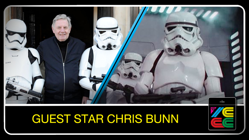 Chris Bunn - Chris started working in the film business in 1974 has gone on to work in some of the most popular movies of all time. His first film was ' The Slipper and the Rose ' followed by three James Bond films ( ' The Spy Who Loved Me ' , ' Moonraker ' and ' The Living Daylights ' ) . Then two Superman movies ( Superman I and II ). He has done numerous war films including ' Dirty Dozen Next Mission ' , ' Force 10 from Navarone ' , ' Ike The War Years ' , ' The Eagle Has Landed ' and ' Aces High ' and has worked in some very popular TV shows over the years such as The Sweeney, Minder and The Avengers . He has been in a many of the very popular ' Carry On ' films also .Another very popular film series that Chris has worked on has been the ' Star Wars ' original trilogy where Chris was the original Stormtrooper that all Stormtrooper armor was molded off in ' Star Wars A New Hope ' and also played an astronaut in the famous cantina scene. Chris also went on to work in the sequels ' The Empire Strikes Back ' and ' Return of the Jedi ' .