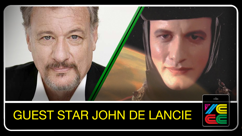 John de Lancie - Best known for his role as Q in Star Trek: The Next Generation, Star Trek: Deep Space Nine, and Star Trek: Voyager. He has had several recurring roles on television series, including Frank Simmons in Stargate SG-1, Donald Margolis in Breaking Bad, and Eugene Bradford on Days of Our Lives.His many film credits include The Hand that Rocks the Cradle, Get Smart, Again!, The Fisher King, Bad Influence, The Onion Field, Taking Care of Business, Fearless, Arcade, Multiplicity, Woman on Top, Good Advice, The Big Time, Pathology, Evolver, Reign Over Me, My Apocalypse, Crank, Crank 2, and You Lucky Dog.John has guest-starred on TV in The West Wing, Charmed, Andromeda, The Unit, MacGyver, Law & Order: LA, Touched by an Angel, the 1980s revival of Mission: Impossible, and Special Unit 2, along with animated series, including The Angry Beavers, Extreme Ghostbusters, Invader Zim, Duck Dodgers, Max Steel, Duckman, and Young Justice. Dr. Death in Outlaws, William Miles in Assassin's Creed: Revelations and Assassin's Creed III, Fitz Quadwrangle in Quantum Conundrum, Q in Star Trek: Borg, Alarak in StarCraft II: Legacy of the Void and the human emperor in Master of Orion: Conquer the Stars. He is also the voice of Discord in My Little Pony: Friendship Is Magic.John co-wrote the Star Trek novel I, Q with Peter David, as well as co-writing the novel Soldier of Light (with Tom Cool).