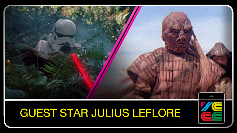 "Julius LeFlore  has worked on over 140 Hollywood films. In ""Star Wars Episode VI: Return of the Jedi"" he was a stunt double for Billy Dee Williams (Lando Calrissian) and also portrayed a Skiff master, Yotts Oren, a Biker Scout and a Stormtrooper. As Weeqyay, he was the ONLY stunt man willing to dive HEAD FIRST into the Sarlacc Pit!"