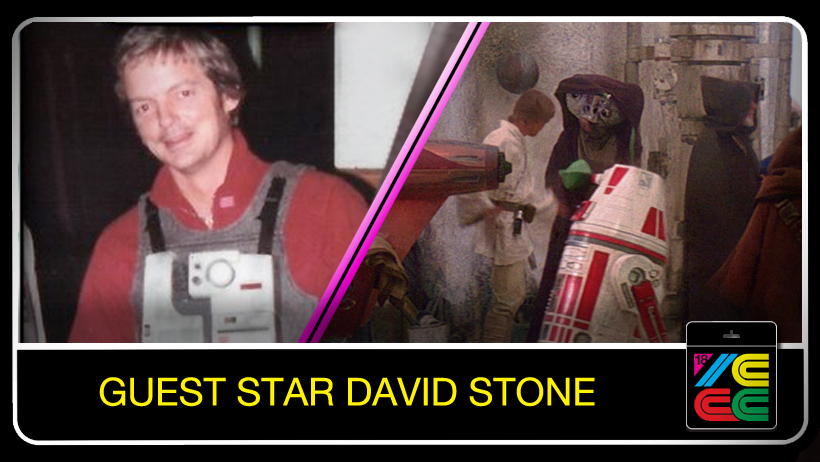 "David Stone  played an unforgettable role in 1977's ""Star Wars: A New Hope.""  He was cast as the character Wioslea who appeared in the Mos Eisley Cantina scene and purchased the landspeeder from Luke Skywalker. He was also cast as a double for Mark Hamill as an X-Wing pilot, and a B-Wing pilot  in ""Star Wars Episode VI - Return of the Jedi."""