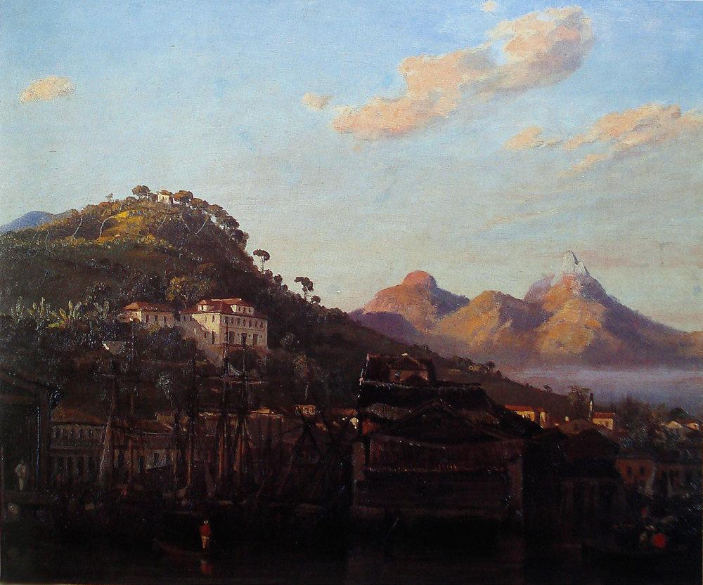 Vista da Gamboa, Rio de Janeiro, 1852 / Óleo por Abraham-Louis Buvelot Acervo Museu Nacional de Belas Artes (MNBA), Rio de Janeiro