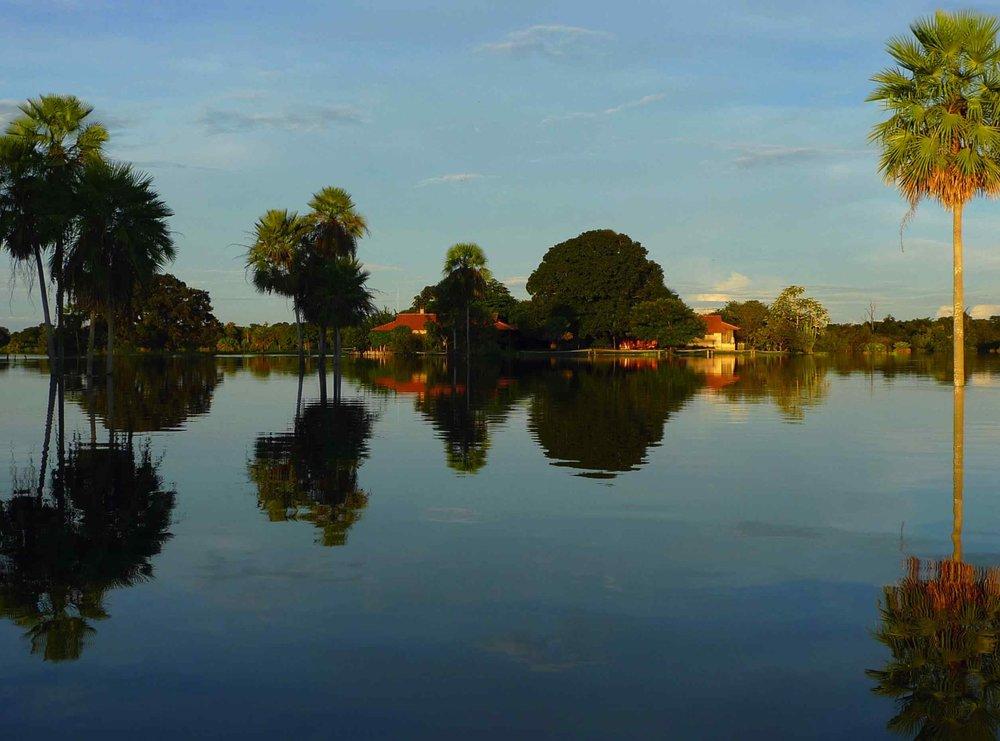Fazenda Barranco Alto durante o período da cheia no Pantanal / Imagem por Lucas Leuzinger