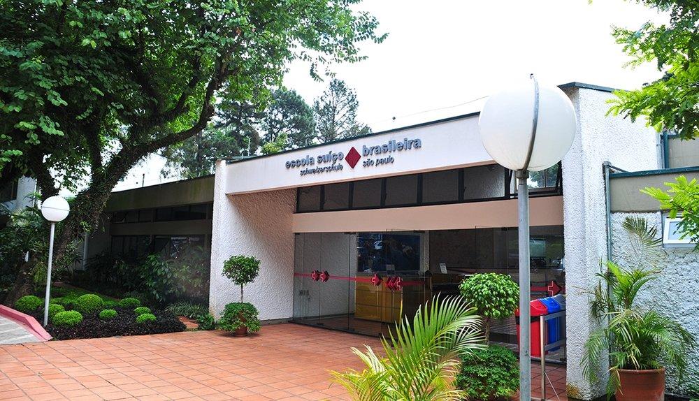 Fachada da Escola Suíço-Brasileira de São Paulo  Acervo Escola Suíço-Brasileira de São Paulo