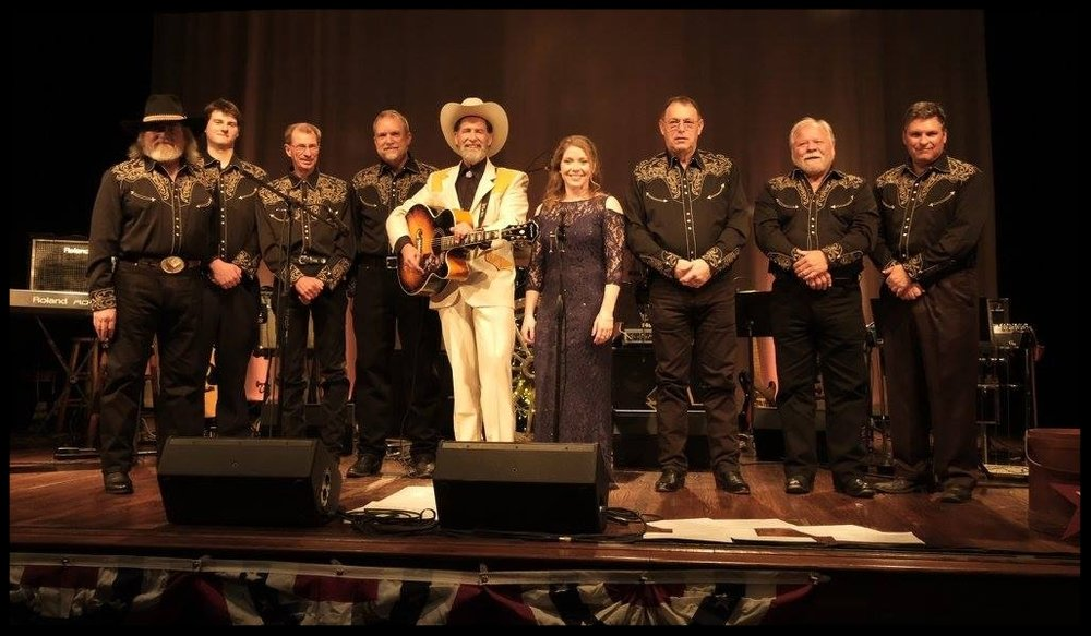Wayne Taylor's Great American Country Band (left to right) : Marshall Sipe (Keys/Vocals), Grayson Drum (Fiddle). Ronnie Black (Rhythm Guitar/Vocals), Billy Rose (Bass Guitar) Wayne Taylor (Lead Vocals/Rhythm Guitar), Cortni Bazzle (Vocals), Bryan Hudson (Steel Guitar), Monte Biddy (Lead Guitar), Greg Simmons (Drums)