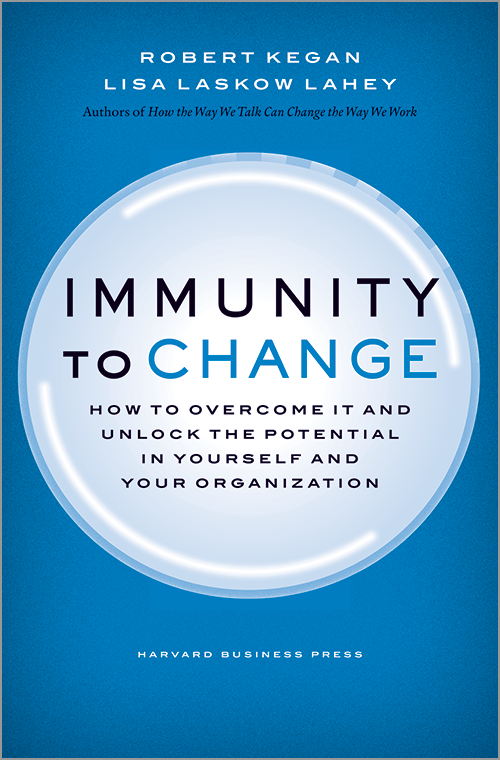 Immunity to Change  Robert Kegan & Lisa Laskow Lahey  Fantastic look at how we can determine underlying beliefs that hold us back and how to confront our often hidden assumptions to make positive changes in our lives! Imagine, millions of people are prescribed heart medications every year and told they will have a normal life if they take the pill daily, and yet they don't. This helps you understand why and what to do about it!