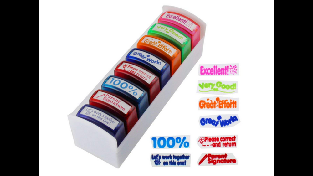 Set of reward stamps