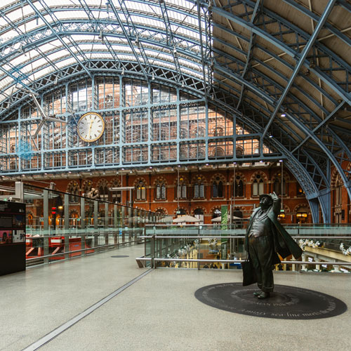 a short walk from Kings Cross and St Pancras International -